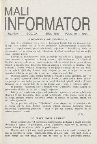 Mali informator, 1994/1859