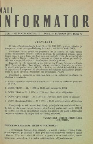 Mali informator, 1974/42