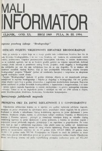 Mali informator, 1994/1869