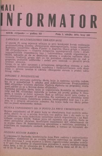 Mali informator, 1975/103