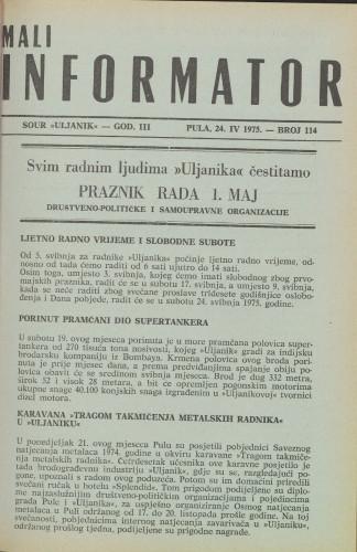 Mali informator, 1975/114