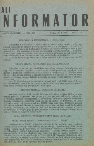 Mali informator, 1975/119