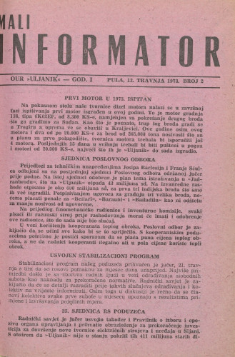 Mali informator, 1973/2
