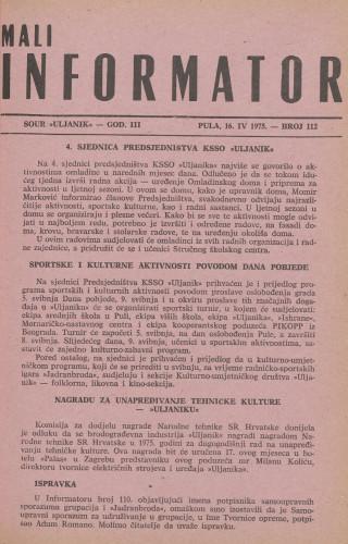 Mali informator, 1975/112