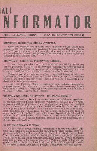 Mali informator, 1974/41