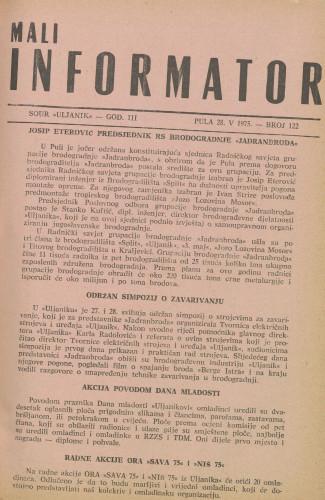Mali informator, 1975/122