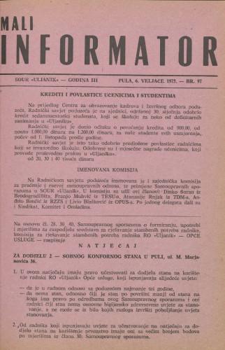 Mali informator, 1975/97