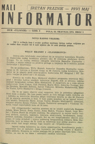 Mali informator, 1973/3