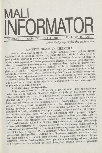 Mali informator, 1994/1867